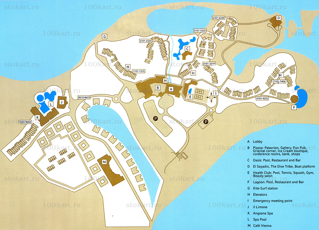 Карта Moevenpick Resort & Spa El Gouna 5*