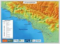Все предложения в Абхазии на карте - Дикарь-Сочи РФ